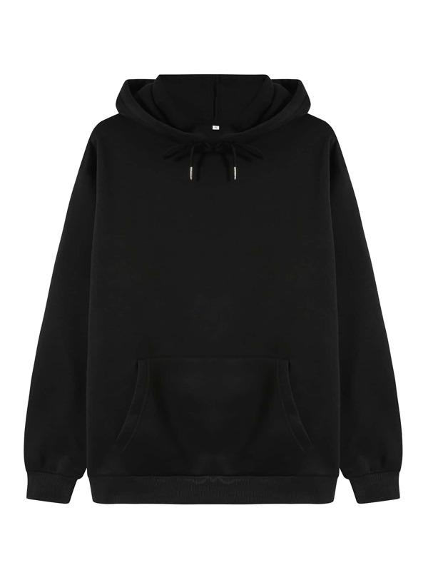 Solid Thermal Lined Drawstring Hoodie - INS | Online Fashion Free Shipping Clothing, Dresses, Tops, Shoes
