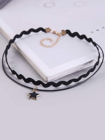 Star Charm Layered Choker - INS | Online Fashion Free Shipping Clothing, Dresses, Tops, Shoes