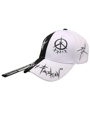 Star Grafitti Print Adjustable Baseball Cap - INS | Online Fashion Free Shipping Clothing, Dresses, Tops, Shoes