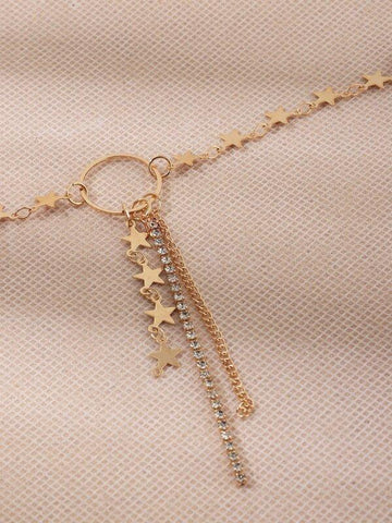 Star Tassel Charm Necklace - INS | Online Fashion Free Shipping Clothing, Dresses, Tops, Shoes