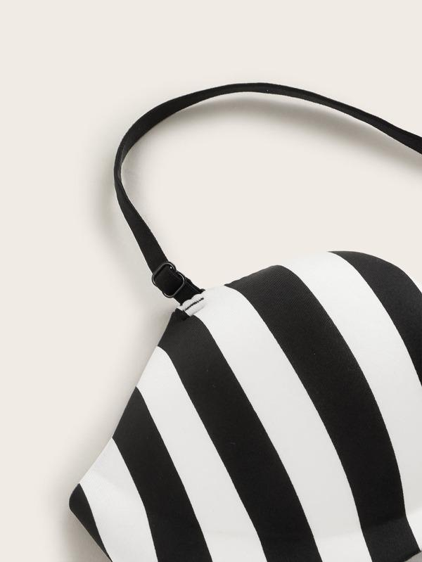 Striped Caged Back Seamless Bra - INS | Online Fashion Free Shipping Clothing, Dresses, Tops, Shoes