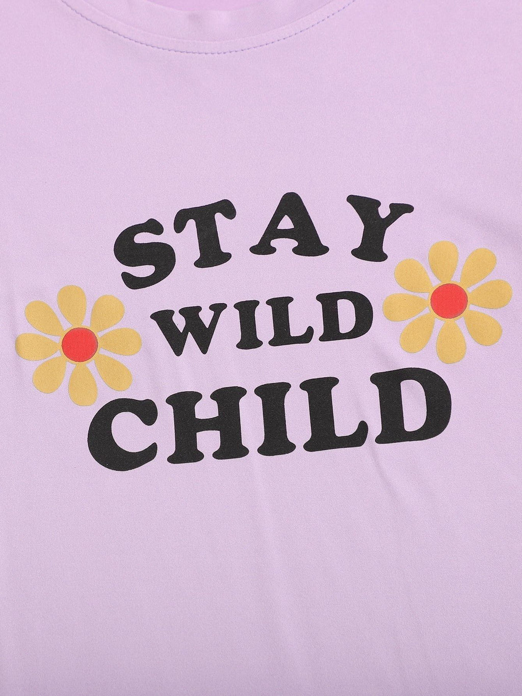 Sunflower & Slogan Short Sleeve Tee - INS | Online Fashion Free Shipping Clothing, Dresses, Tops, Shoes