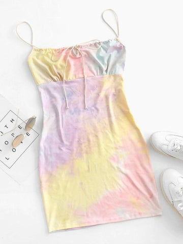 Tie Dye Bodycon Dress - INS | Online Fashion Free Shipping Clothing, Dresses, Tops, Shoes