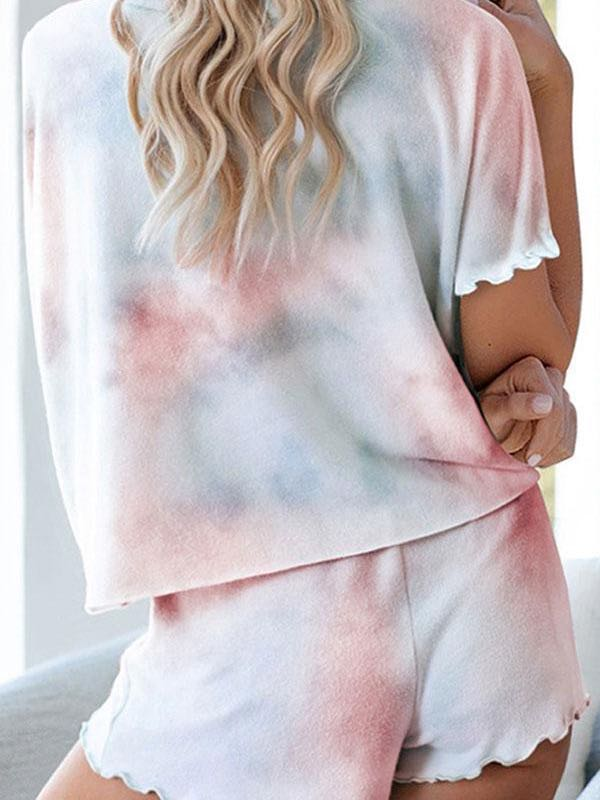 Tie Dye Lace-Up Pants Suit - INS | Online Fashion Free Shipping Clothing, Dresses, Tops, Shoes