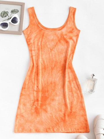 Tie Dye Slinky Tank Dress - INS | Online Fashion Free Shipping Clothing, Dresses, Tops, Shoes