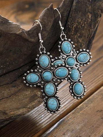 Turquoise earrings - INS | Online Fashion Free Shipping Clothing, Dresses, Tops, Shoes