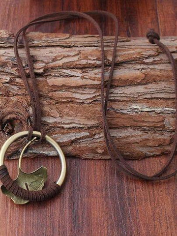 Vintage Ginkgo Leaf Alloy necklace - INS | Online Fashion Free Shipping Clothing, Dresses, Tops, Shoes