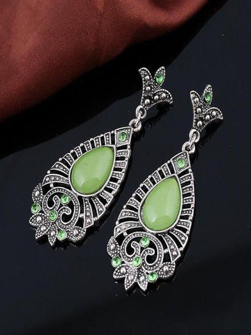 Vintage opal water drop hollow earrings - INS | Online Fashion Free Shipping Clothing, Dresses, Tops, Shoes