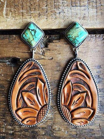 Vintage Turquoise Earrings - INS | Online Fashion Free Shipping Clothing, Dresses, Tops, Shoes