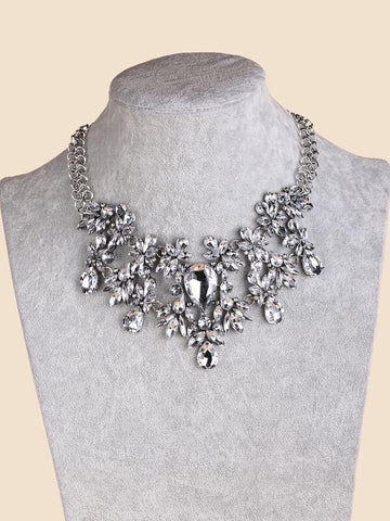 Water-drop Rhinestone Necklace - INS | Online Fashion Free Shipping Clothing, Dresses, Tops, Shoes