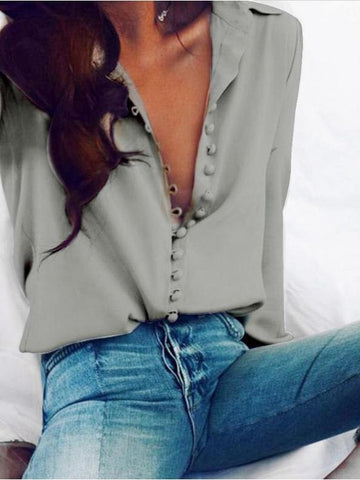 White Long-sleeved Blouse For Women - INS | Online Fashion Free Shipping Clothing, Dresses, Tops, Shoes