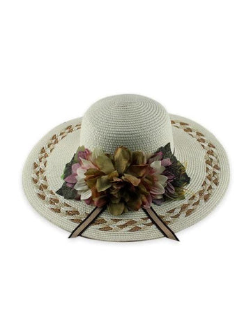 Wide Brimmed Flowers Straw Hat - INS | Online Fashion Free Shipping Clothing, Dresses, Tops, Shoes