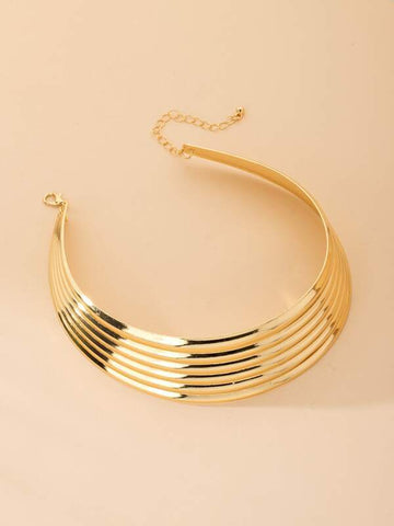 Wide Metal Necklace - INS | Online Fashion Free Shipping Clothing, Dresses, Tops, Shoes