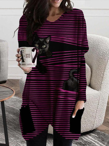 Winter striped 3D cat warm pack hip skirt - INS | Online Fashion Free Shipping Clothing, Dresses, Tops, Shoes