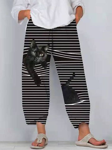 Women Casual Pants 3D Cartoon Animal Pattern Pants - INS | Online Fashion Free Shipping Clothing, Dresses, Tops, Shoes