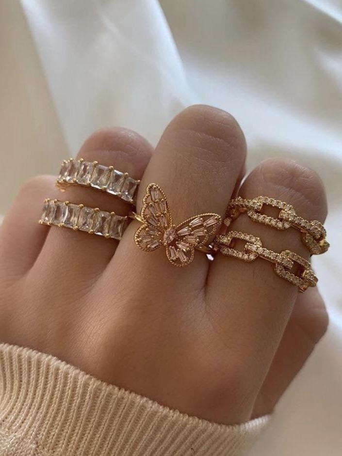 Women Fashion Zircon Diamond Ring - INS | Online Fashion Free Shipping Clothing, Dresses, Tops, Shoes