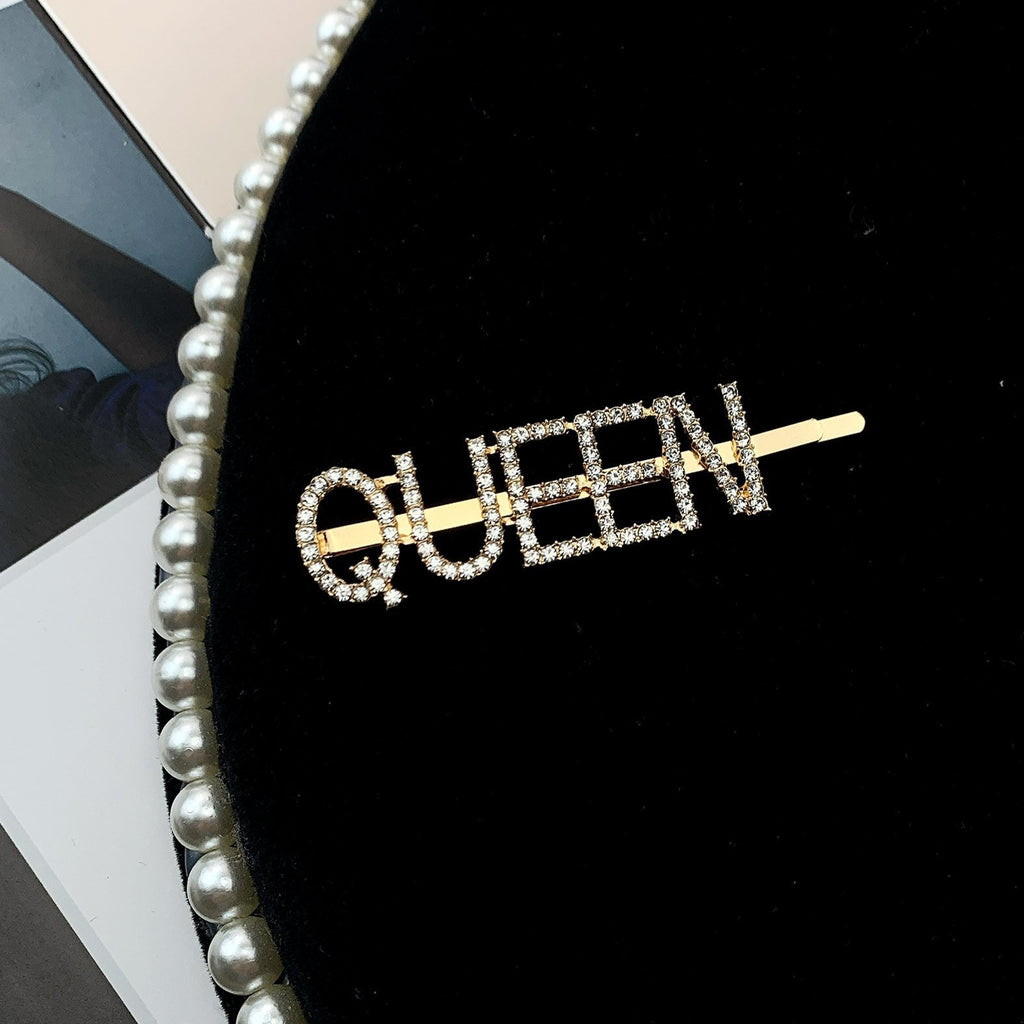 Women Gold Letter Pattern Hairpin - INS | Online Fashion Free Shipping Clothing, Dresses, Tops, Shoes