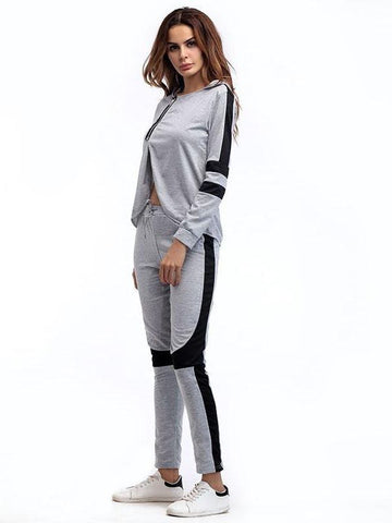 Women Irregular Hooded Sportswear Suit - INS | Online Fashion Free Shipping Clothing, Dresses, Tops, Shoes