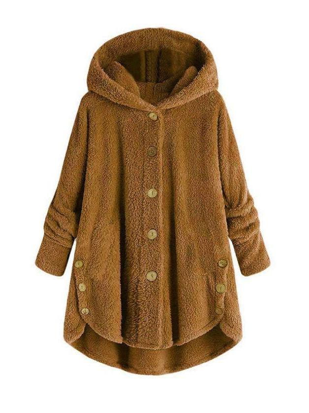 Women Loose Furry Hooded Winter Coat - INS | Online Fashion Free Shipping Clothing, Dresses, Tops, Shoes