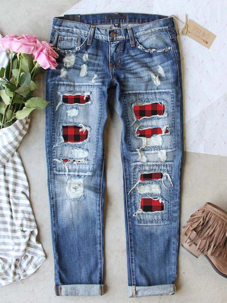 Women Skinny Ripped Stretch Jeans - INS | Online Fashion Free Shipping Clothing, Dresses, Tops, Shoes