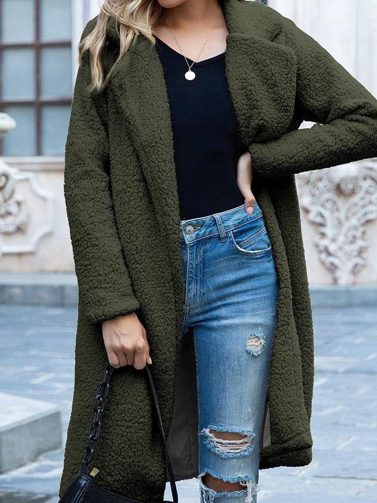 Women Thick Fleece Long Jacket - INS | Online Fashion Free Shipping Clothing, Dresses, Tops, Shoes