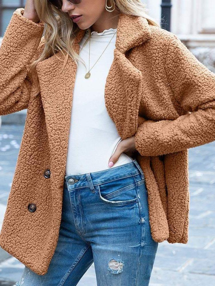 Women Thick Sherpa Fleece Coat - INS | Online Fashion Free Shipping Clothing, Dresses, Tops, Shoes