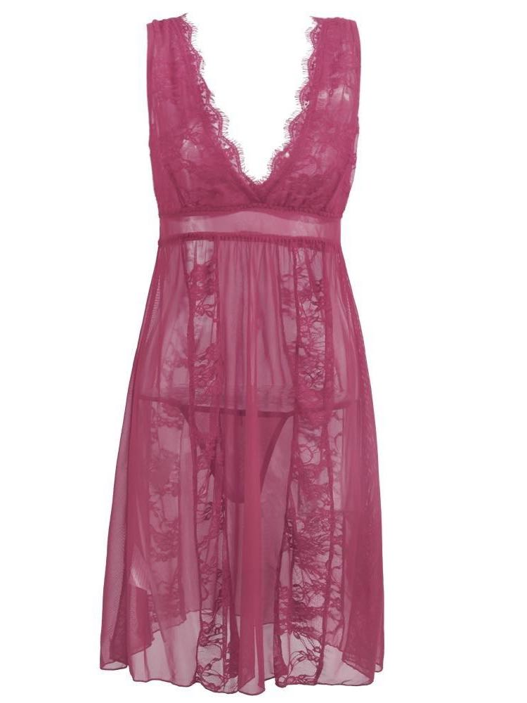 Women Transparent Lace Sling Nightdress - INS | Online Fashion Free Shipping Clothing, Dresses, Tops, Shoes
