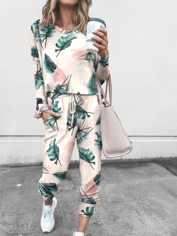 Women's Casual Printed Loungewear Sets - INS | Online Fashion Free Shipping Clothing, Dresses, Tops, Shoes