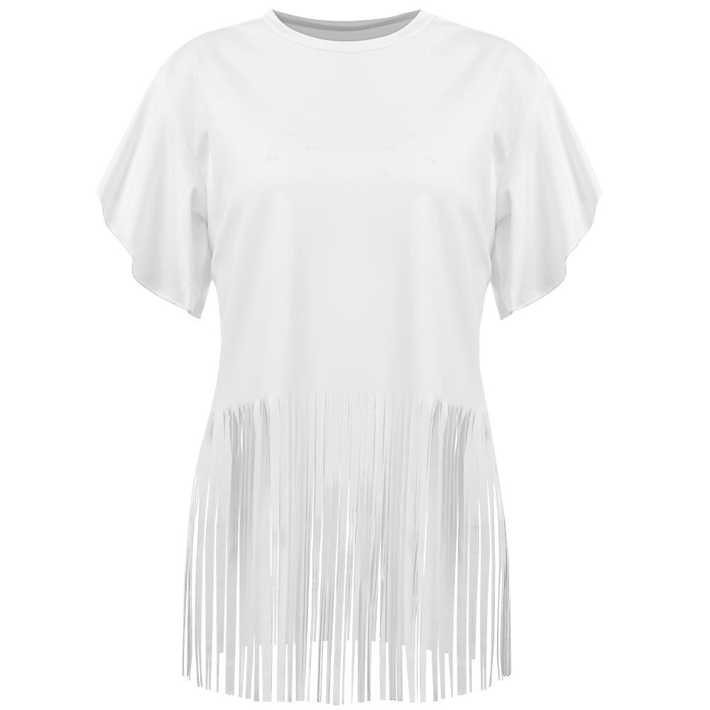Women's Falbala Pure Color Top with Tassels - INS | Online Fashion Free Shipping Clothing, Dresses, Tops, Shoes