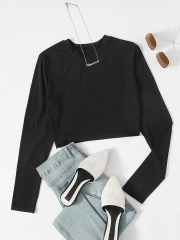 Women's fashion long-sleeved T-shirts - INS | Online Fashion Free Shipping Clothing, Dresses, Tops, Shoes