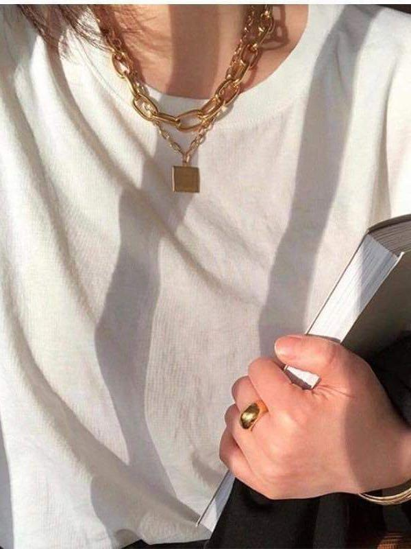 Women's Gold Plated Necklace - INS | Online Fashion Free Shipping Clothing, Dresses, Tops, Shoes