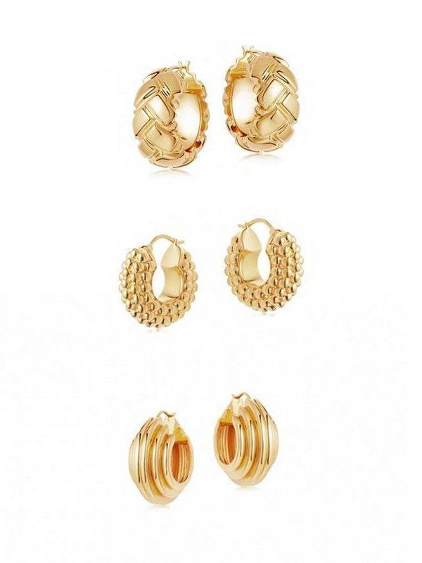 Women's hoop gold earrings - INS | Online Fashion Free Shipping Clothing, Dresses, Tops, Shoes