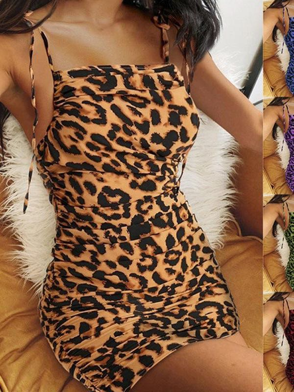 Women's Leopard Grain Lace-up Top - INS | Online Fashion Free Shipping Clothing, Dresses, Tops, Shoes