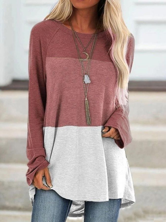 Womens Loose Round Neck T Shirt - INS | Online Fashion Free Shipping Clothing, Dresses, Tops, Shoes
