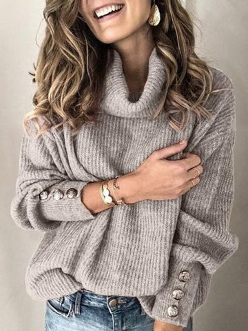 Women's Mock Turtleneck Sweater - INS | Online Fashion Free Shipping Clothing, Dresses, Tops, Shoes