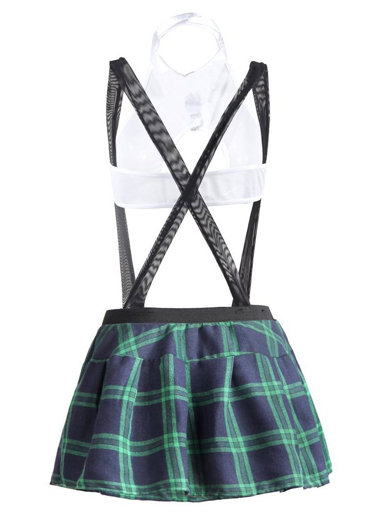 Women's Plaid Skirt With Halter - INS | Online Fashion Free Shipping Clothing, Dresses, Tops, Shoes