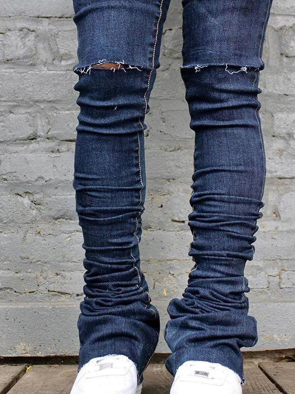 Women's Skinny Ripped Jeans - INS | Online Fashion Free Shipping Clothing, Dresses, Tops, Shoes