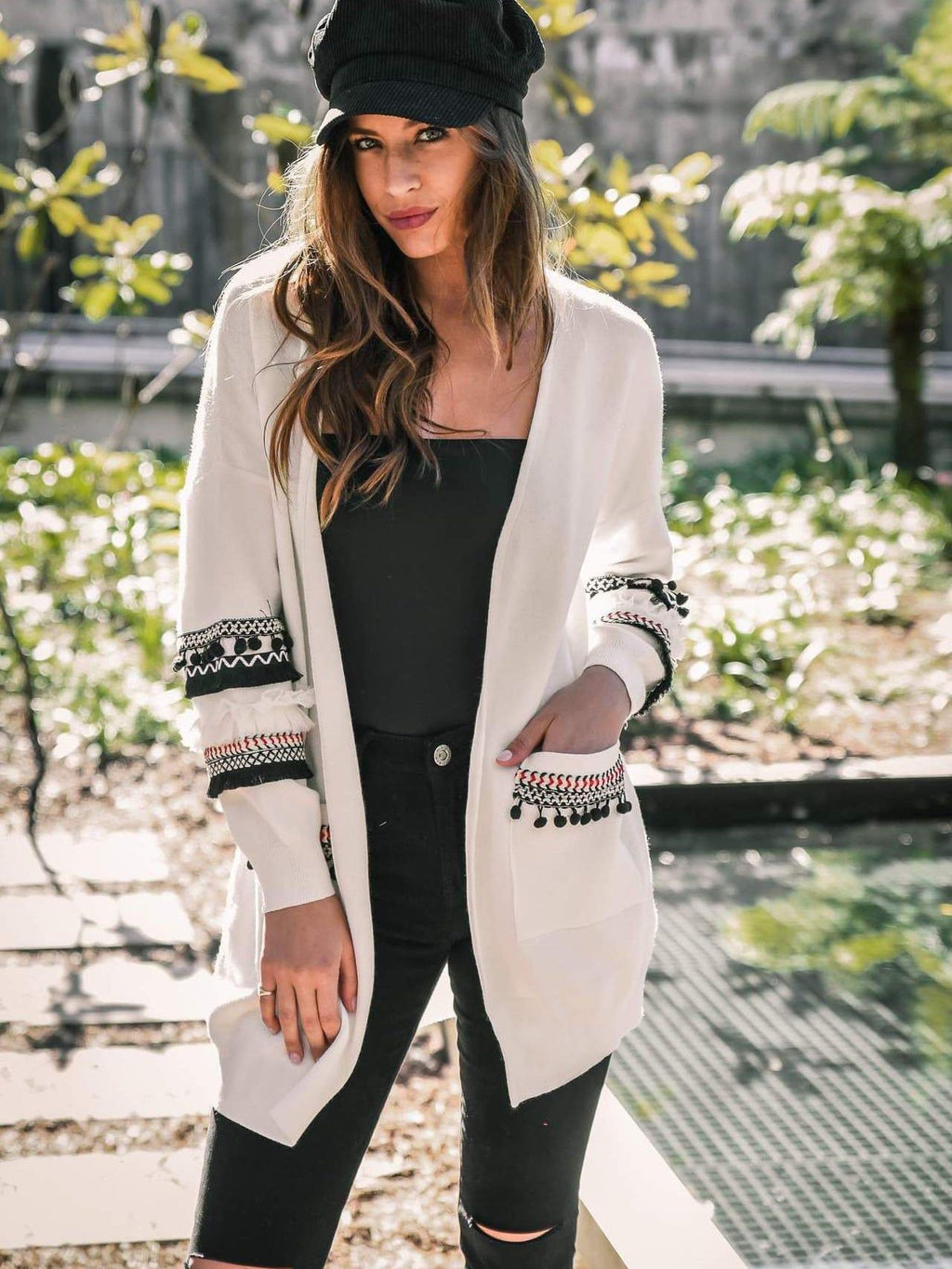 Women's Stylish Patchwork Cardigan Sweater Coat - INS | Online Fashion Free Shipping Clothing, Dresses, Tops, Shoes