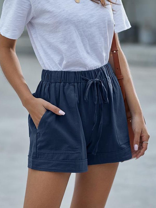 Women's Summer Casual High Waist Shorts - INS | Online Fashion Free Shipping Clothing, Dresses, Tops, Shoes