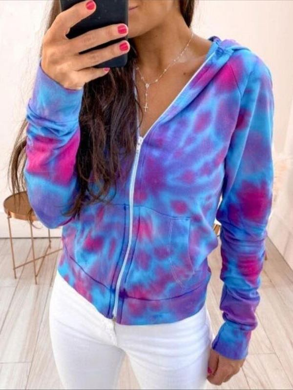 Women's Tie-dyed Coat - INS | Online Fashion Free Shipping Clothing, Dresses, Tops, Shoes