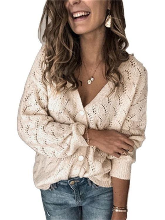 Women's V Neck Cardigan - INS | Online Fashion Free Shipping Clothing, Dresses, Tops, Shoes