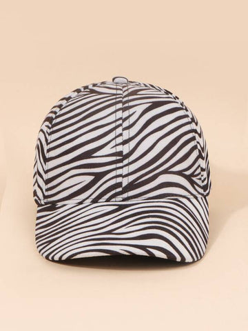 Zebra Striped Pattern Baseball Cap - INS | Online Fashion Free Shipping Clothing, Dresses, Tops, Shoes
