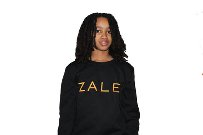 Zale Black Kids Crewneck
