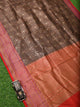Black Katan Silk Brocade Handloom Banarasi Saree