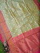 Green Katan Silk Brocade Handloom Banarasi Saree