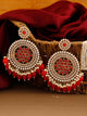 Red Nandini Designer Earrings