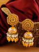 Mustard Jessi Jhumki Earrings