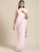 Pink Solid Saree