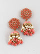 Coral Jessi Jhumki Earrings