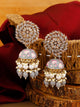 Grey Jessi Jhumki Earrings